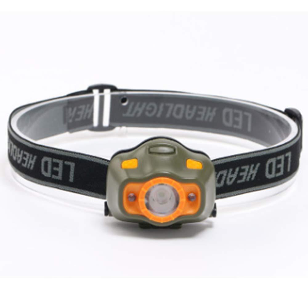 Lámpara frontal potente COB LED - Linterna frontal LED (4 modos de iluminación (ajustable,, Para Correr Senderismo camping ciclismo iluminación al aire libre 3 pilas AAA Naisicatar