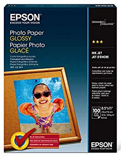 Epson Photo Paper GLOSSY (8 5x11 Inches, 100 Sheets