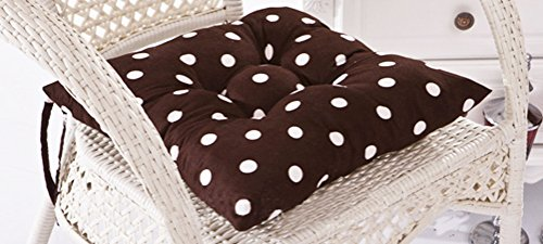 Polka Dots Stuffed Chair Cushion with Ties LivebyCare Filled Seat Back Cushions Square PP Cotton Insert Filling Pad for Decor Decorative Lounge Saloon - Dot Patio Furniture