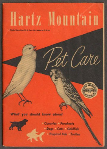 Hartz Mountain Pet Care Products Catalog ca 1940s