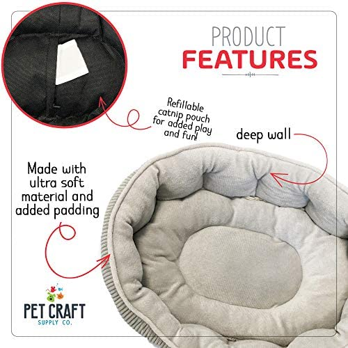 Simple Sleeper Cat Bed Ultra Soft with Catnip Pouch