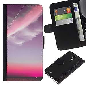 A-type Arte & diseño plástico duro Fundas Cover Cubre Hard Case Cover para iPhone 4 / 4S (Pink Sky Plane Clouds Sunset)