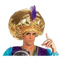Accesorio de vestuario para turbante gigante para hombre Forum Novelties, dorado, talla única