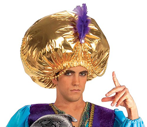 [Forum Novelties Men's Giant Turban Costume Accessory, Gold, One Size] (Arabian Costumes For Men)