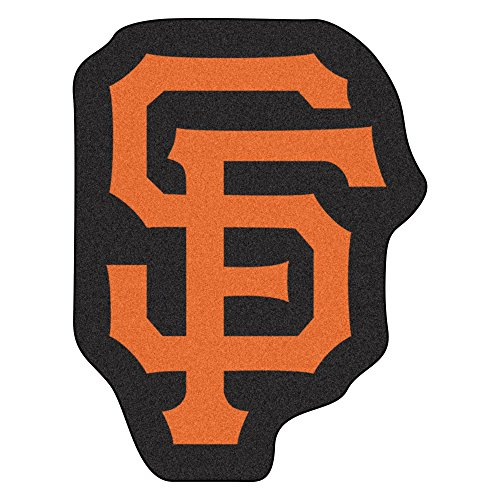 MLB San Francisco Giants Mascot Novelty Logo Shaped Area Rug ()