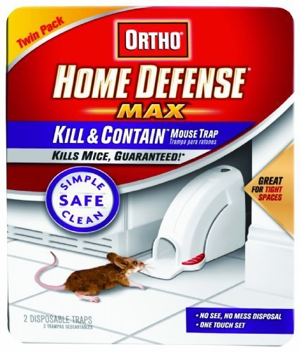 Ortho 0320110 Home Defense Max Kill & Contain Mouse Trap, Disposable 2-Pack Garden, Lawn, Supply, Maintenance