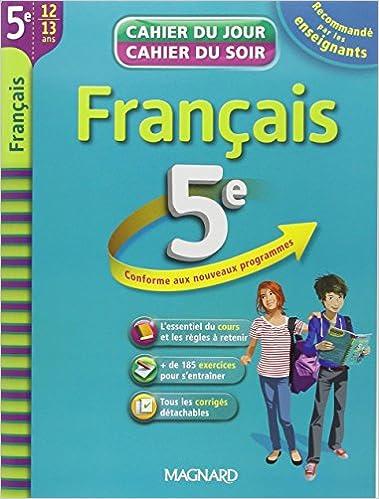 Livres Français 5e : cahier de révision et d'entraînement epub pdf