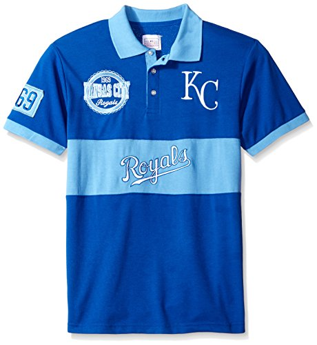 Kansas City Royals Shorts - FOCO Kansas City Royals Cotton/Poly Wordmark Rugby Short Sleeve Polo Shirt Extra Large