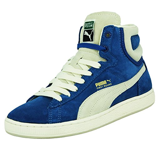 Puma FIRST ROUND NS Chaussures Mode Sneakers Unisexe Cuir Suede Bleu PUMA