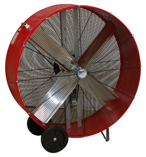 MaxxAir BF36BD RED High Velocity Belt Drive Drum Fan, 36-Inches, Red ()
