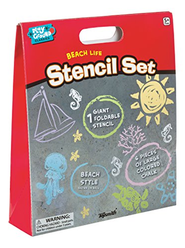 Chalk Stencils (Toysmith Giant Sidewalk Chalk Stencil Kit)