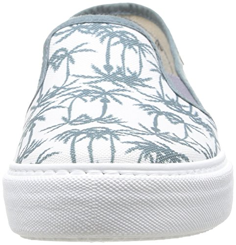 Calego Slip On Estamp Tropicales - Zapatos Unisex adulto Multicolore (Petroleo)