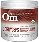 Mushroom Matrix Cordyceps Militaris Organic Powder, 7.14 Ounce