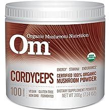 Om Organic Mushroom Supplement, Cordyceps, 200 grams