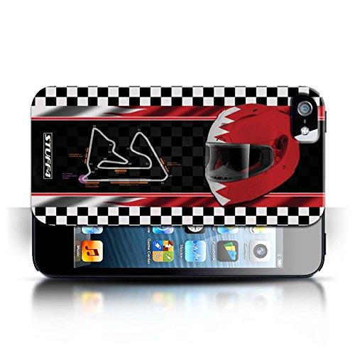 Etui / Coque pour Apple iPhone 5/5S / Bahreïn/Sakhir conception / Collection de F1 Piste Drapeau