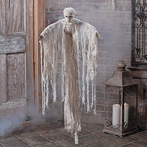 Fun Express - Hanging Mummy for Halloween - Home Decor - Outdoor - Yard Art - Halloween - 1 Piece -
