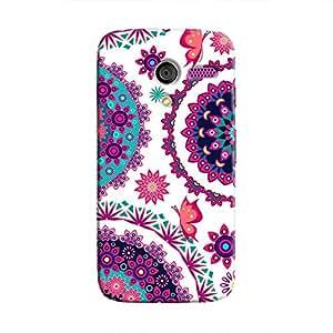 Cover It Up - Flower Design White Moto X Hard Case