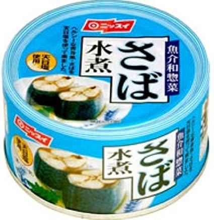 Amazon | ニッスイ さば水煮 190g×24個 | ニッスイ | 魚介の缶詰・瓶詰 ...
