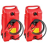 Scepter Flo N Go Duramax 14 Gallon Portable Gas Fuel Tank Container with Pump (2 Pack)