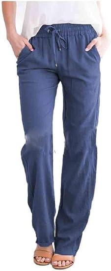 AngelSpace Women's Plus-size Wide Leg Elastic Waist Long Pants Harem Pants