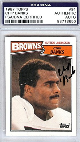 Chip Banks Autographed Signed 1987 Topps Card Cleveland Browns #83713650 - PSA/DNA Certified - NFL Autographed Football Cards ()