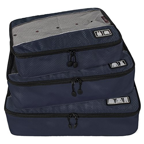 BAGSMART Travel Packing Cubes 3 Sets Luggage Packing Organizer for Carry-on Accessories, Blue