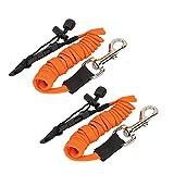 Sarissa Kayak Paddle Leash, Canoe Paddle Leash 2 PCS Orange for Kayaking, Securing Canoe, SUP Board, Fishing Rod, Paddles