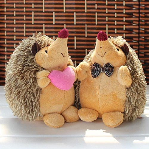 Winning Couples Halloween Costumes (1Pair of 7 Howie Hedgehog Couple Plush Stuffed Dolls Animal PlushToys by NUWA)