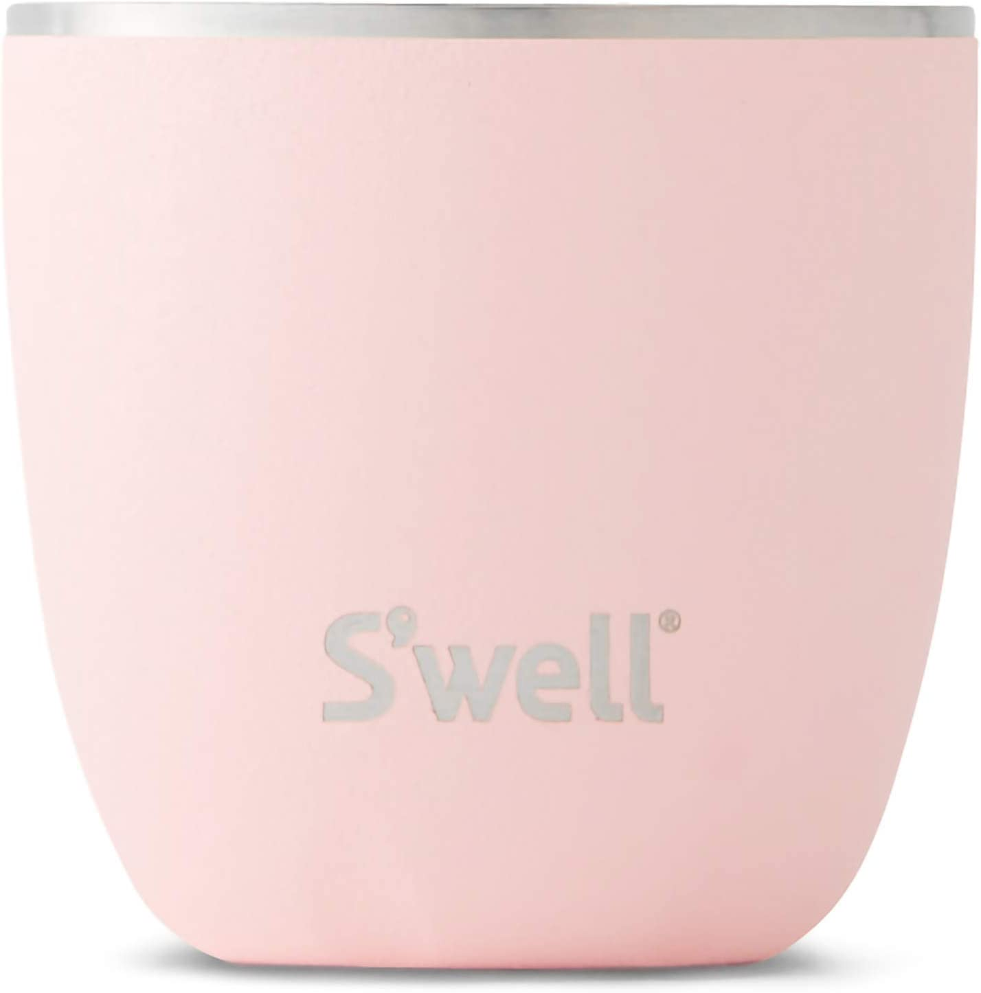 S'well Stainless Steel Tumbler-10 Fl Oz-Pink Topaz-Triple-Layered Vacuum-Insulated Containers Keeps Food and Drinks Cold and Hot-with No Condensation-BPA Free, 10oz