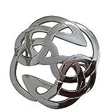 AAR Celtic Knot Kilt Fly Plaid Brooch for 3.50'' Diameter Chrome Finish