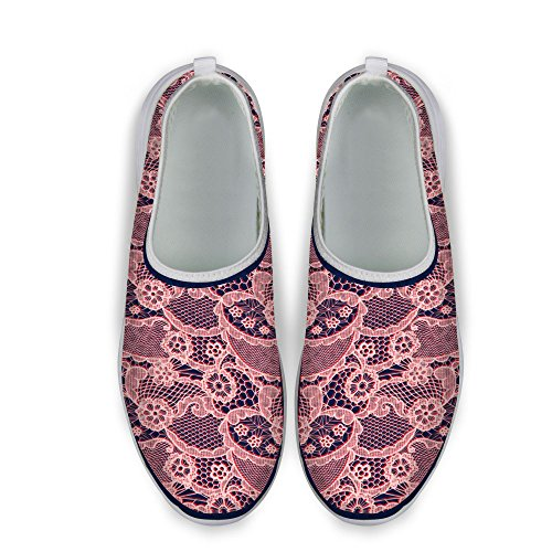 DESIGNS Floral Print U Mesh Shoes Walking 2 Casual Pink FOR Vintage Womens Running q5H6wAx