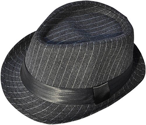 Simplicity Men Women Classic 1920s Derby Hat Manhattan Fedora Hat, Charcoal Grey (1920 Sonnenbrille)