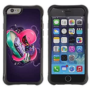 ZeTech Rugged Armor Protection Case Cover - Funny Pink Octopus - Apple Iphone 6