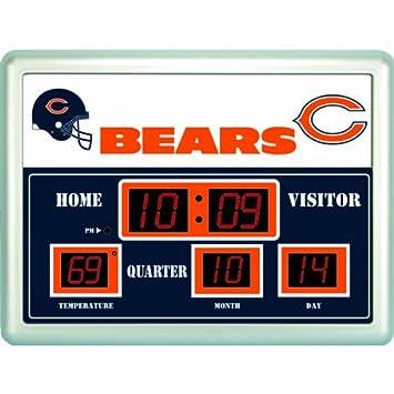Amazoncom NFL Team Scoreboard Wall Clock Chicago Bears