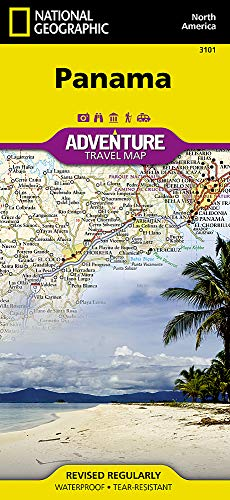 Panama (National Geographic Adventure Map) (A Map Of The Country Of Panama)