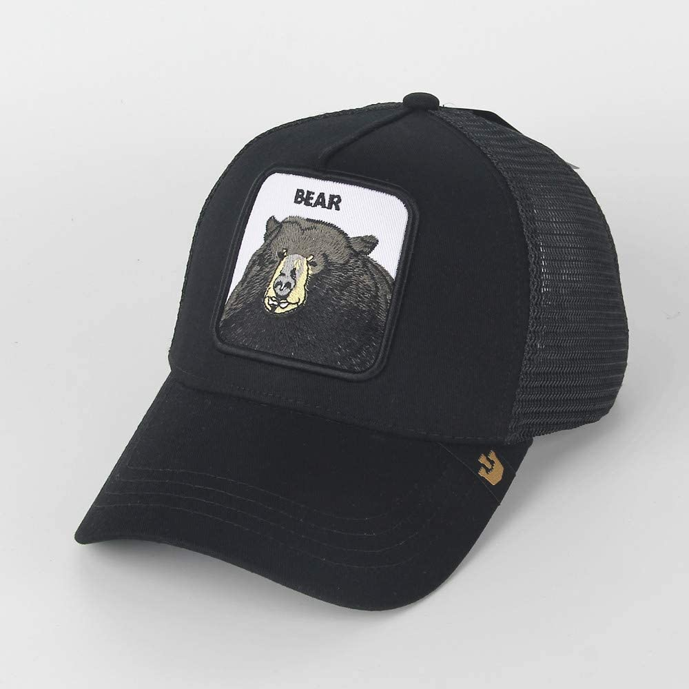 QQYZ Bee Pattern Embroidered Baseball Cap Animal Mans Net Hat