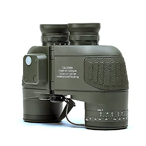 USCAMEL 10x50 Military Waterproof HD Binoculars with Rangefinder Compass -