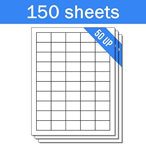 OfficeSmartLabels Rectangular 1 x 1-1/2 Address / UPC EAN Barcode Labels for Laser & Inkjet Printers, 1 x 1.5 Inch, 50 per sheet, White, 7500 Labels , 150 Sheets