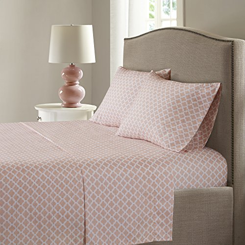 Smart Cool Bed Sheets Set - Microfiber Moisture Wicking Fabric Bedding - King Size Sheets - Blush Incl. Flat Sheet, Fitted bed-sheet and 2 Pillow Cases