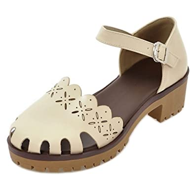 Tacon Mujer Sandalias Zapatos Aicciaizzi Casual Plataforma Ancho 8nwOPX0k