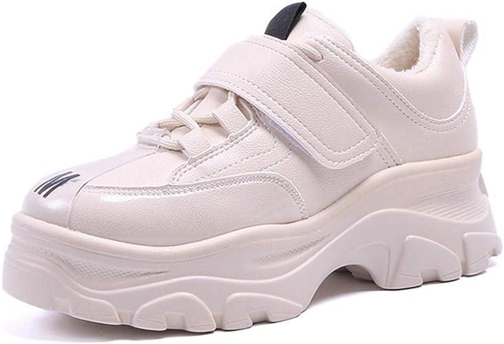 Low Top Sneakers Mujer Zapatos Planos para Correr De Cuero CáLido Felpa Forrada Confort Zapatillas De Deporte De Invierno Plataforma AtléTicos Entrenadores TéRmicos: Amazon.es: Zapatos y complementos