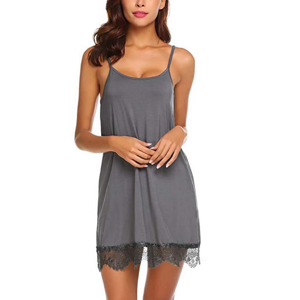 Pervobs Womens Sexy Lace Babydoll Sleepwear Nightwear Camisole Mesh Loose Lingerie Underwear Lingerie(XL, Brown) by Pervobs Lingerie & Sleepwear (Image #5)