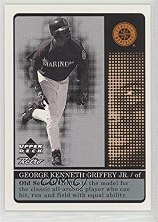 3b3a28b151 Amazon.com: Ken Griffey Jr. #/1,000 (Baseball Card) 1999 Upper Deck Retro -  Old School/New School #S1: Collectibles & Fine Art