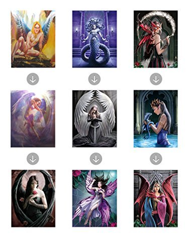 FANTASY BUNDLE UNFRAMED Holographic Wall Art-MULTIPLE PICTURES IN ONE-Posters That CHANGE Images-Lenticular Artwork-HOLOGRAM Images Change--Technology by THOSE FLIPPING PICTURES
