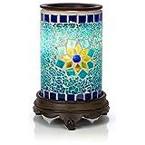 VP Home - Calentador de fragancias de Vidrio con diseño de Mosaico, Sapphire and Gold