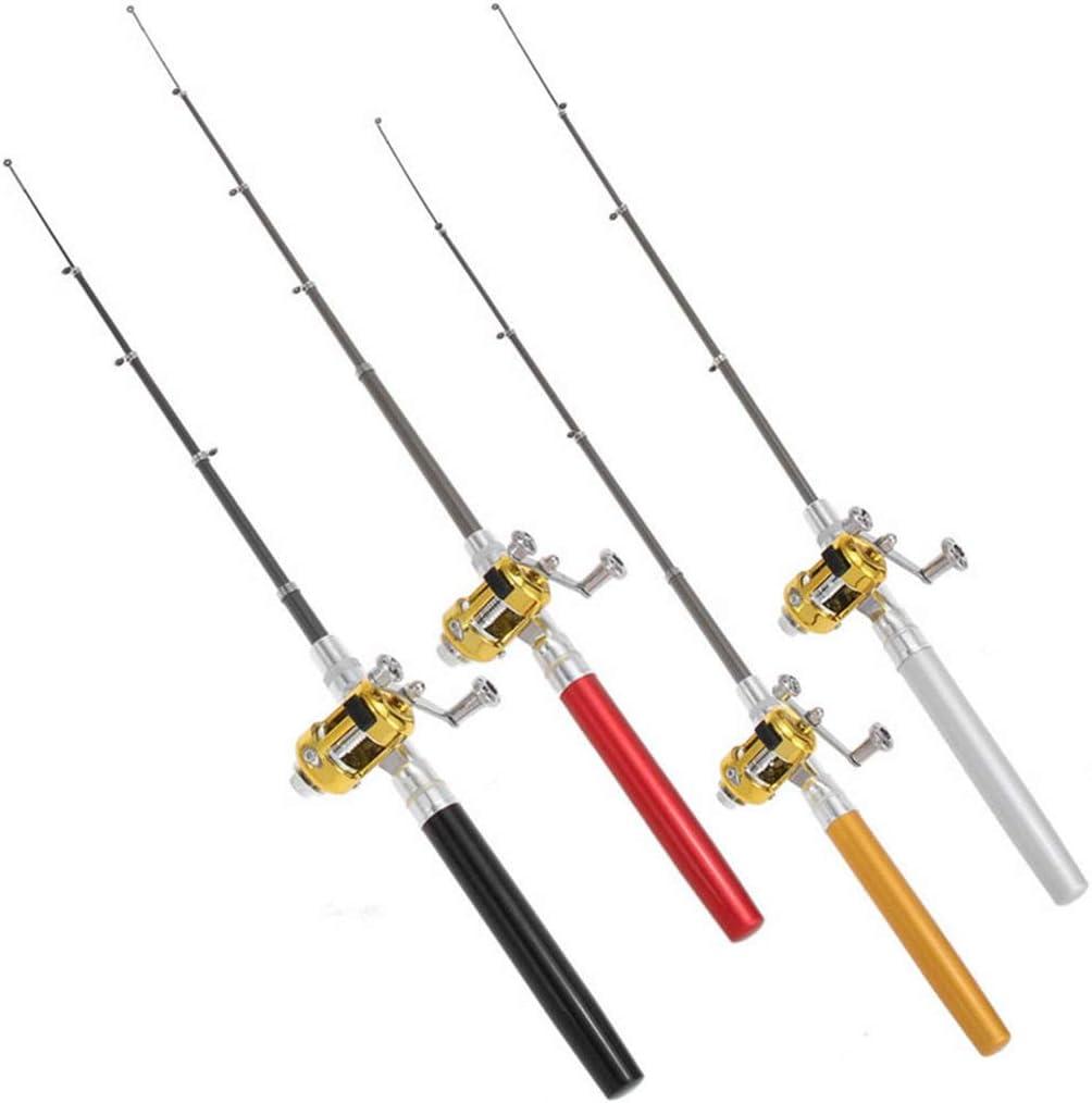 Angelrute Blau VAILANG Mini Teleskop Tragbare Tasche Fisch Stift Aluminiumlegierung Angelrute Pole