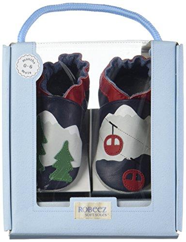 Robeez Mountain Trees - Zapatillas de casa Bebé-Niñas Azul Marino