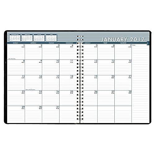 house of doolittle 2017 monthly calendar meeting planner black