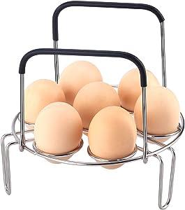 Egg Steamer Rack Trivet with Heat Resistant Handles for Instant Pot 5 Quart & 6 Quart and size above Electric Pressure Cooker
