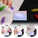 SCStyle Invisible Ink Pen 28Pcs Latest 2019 Spy Pen with UV Light Magic Marker Kid Pens for Secret Message and Birthday Party,Writing Secret Message for Easter Day Halloween Christmas Party Bag Gift